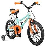 Retrospec Koda Kids Bike with Training Wheels, 16' 3-7yrs, Seafoam & Tangerine