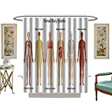 luvoluxhome Shower Curtains Digital Printing The Human Body Systems eps Vector Format Also Available in My Portfolio Custom Made Shower Curtain W48 x L84