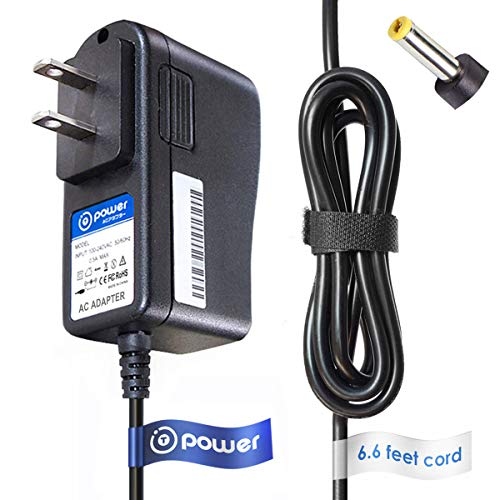 T-Power 9v 6.6ft AC Adapter Compatible with Haier 7' 10' HLT71-NB HLT10 7 10-Inch Handheld TV Widescreen Television Display,HAIER IPDS-20 Move Docking Station iPod Speaker Power Supply Cord