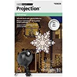 Gemmy Lightshow Projection Multi-Function White Led Snowflakes Christmas Indoor/Outdoor Stake Light Projector