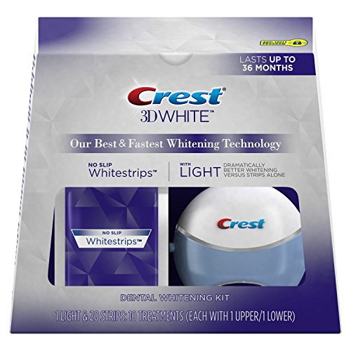 Crest 3D White Whitestrips with Light, Teeth Whitening Strips Kit, 10 count