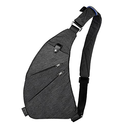 TOPNICE Sling Bag Shoulder Chest Crossbody Lightweight Casual Outdoor Sport Travel Hiking Multipurpose Anti Theft Sling Purse Backpack Bags for Men Women in Gray