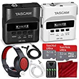 Tascam DR-10L & DR10LW Digital Audio Recorder W/Lavalier Mics 2X 32 GB, 2X Headphones Bride Groom Deluxe Bundle