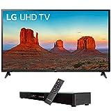 LG 60UK6090 60' 4K HDR Smart LED UHD TV w HDR (2018) (LG60UK6090PUA 60UK6090PUA 60UK6090P) + Deco Gear Home Theater Surround Sound 31' Soundbar & 6 Optical Toslink 5.0mm OD Audio Cable