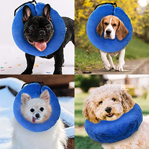 Laboratory 29 Inflatable Dog Collar, Comfy Cone for Dogs, Dog Recovery Collar, Soft Dog Cone, Dog Cone for Dogs and Cats, Washable, Bite and Scratch Resistant (Medium) deal 50% off 514R28 qo9L