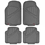 Motor Trend MT774GR Flextough Standard-4Pc Set Heavy Duty Rubber Floor Mats for Car SUV Van and Truck, Gray