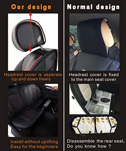 LUCKYMAN CLUB Car Seat Covers Fit Most Sedan SUV Truck - Fit for Corolla Camry Tacoma RAV4(Black 16