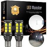 2019 Model - LED Monster 921 Led Reverse Bulb Light For Backup Light Position High Power 2835 15-SMD Chipsets Extremely Bright Error Free T15 906 W16W - 6000K White