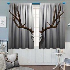 Antler Deer Horns Curtains Set