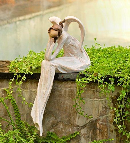 Wind-and-Weather-Thinking-Angel-Garden-Statue