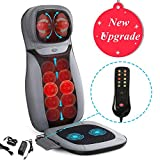 Shiatsu Neck & Back Massager - INTEY Massage Chair Pad with Heat and Vibrations, Full Back Kneading Massage Cushion for Home Office Car Use