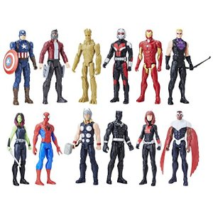 Marvel Titan Hero Series 12-inch Super Hero Action Figure 12-Pack Including Captain America, Iron Man, Spider-Man, Black… 3