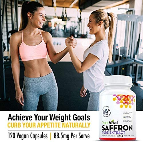 Saffron Supplement - 100% Pure Saffron Extract. Support Healthy Weight Loss, Appetite Control, More Energy, Mood Booster, Eye Health, and May Prevent Macular Degeneration - 1 Bottle (120 Capsules) 5