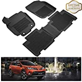 KIWI MASTER Floor Mats Compatible for 2013-2018 Toyota RAV4 All Weather 1st & 2nd Black Row Liners Full Set (Non-Hybrid or Electric)