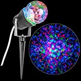 Light Show LED Red Blue Green Projection Kaleidoscope Outdoor Christmas Spotlight Stake