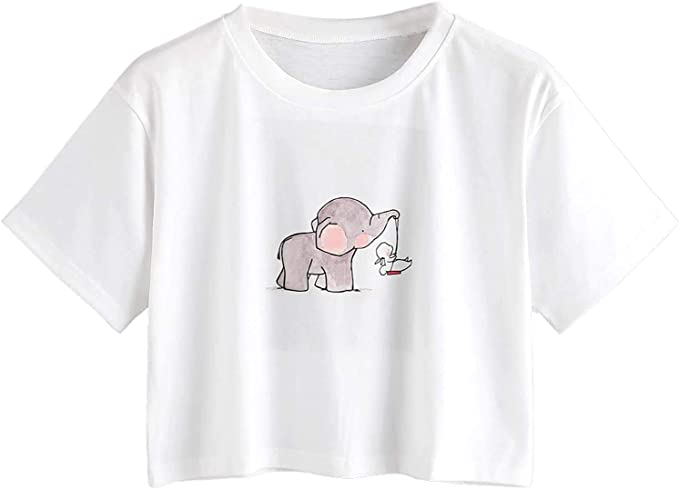 cute tumblr t-shirt with a baby elephant. Cute t-shirts for women and girls