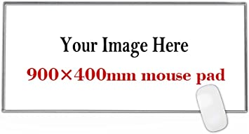 Personalized Large Gaming Mouse Pad 900x400mm Extended Size Desk Pad Custom Your Picture Logo Text Make Your Own Mousepad Office Products Amazon Com