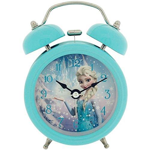Disney Frozen Elsa Childrens Alarm Clock, Metal, Multicoloured, 90x 110mm