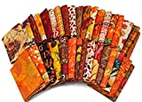 10 Fat Quarters - Autumn Fall Fat Quarter Bundle Autumnal Nature Leaves Quality Quilters Cotton Fabrics M227.02