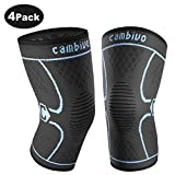 CAMBIVO 2 Pack Knee Brace, Knee Compression Sleeve Support for Running, Arthritis, ACL, Meniscus Tear, Sports,...