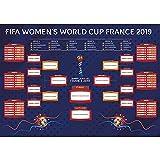 LittleLoverly 2019 France Women's World Cup Wall Chart Poster 16 x 24 inches World Soccer Matches/Football Tournament Schedule/Soccer Calendar Bar/Party Decorations