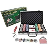 +Urbano Clay Poker Chips Set 300 PCS Heavy Duty 13.5 Gram Chips Texas Holder Cards Game Blackjack Gambling Chips with Aluminum Case (300 pcs) ...