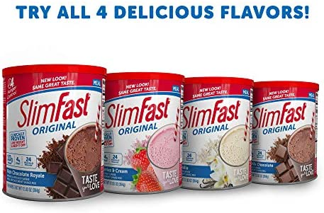 SlimFast Original Rich Chocolate Royale Meal Replacement Shake Mix – Weight Loss Powder – 31.18 Oz Canister – 34 Servings 4