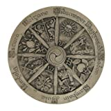 Wheel of the Year Plaque Stone Finish