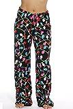 6339-10122-M Just Love Women's Plush Pajama Pants - Petite to Plus Size Pajamas,Black - Light Up,Medium
