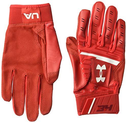 Under Armour Boys' Men's Harper Hustle Baseball Gloves, Red (600)/White, Medium