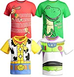Disney Pixar Toy Story Boys 4 Pack T-Shirts Woody Buzz Lightyear Rex Slinky Dog 5