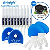 Family Teeth Whitening Kit 35% Carbamide Peroxide Teeth Whitener Gel Dental Tooth Whitening System Oral Gel Kit Teeth Bleaching Kit 30 Treatments for 2 Person