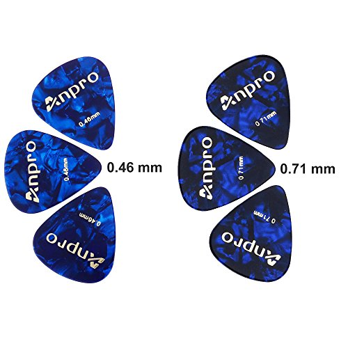 Anpro-Guitar-Capo-for-Ukulele-Acoustic-and-Electric-Guitar-with-6-Pcs-Guitar-Picks-046mm-and-071mm