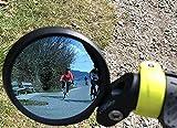 Hafny Bar End Bike Mirror, HD, Blast-Resistant, Glass Mirror, HF- MR090B (Automotive Grade Anit-Glare Blue)
