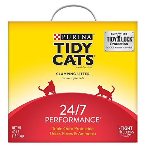 Purina Tidy Cats Clumping Cat Litter; 24/7 Performance Multi Cat Litter - 40 lb. Box