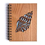 Conch Laser Cut Wood Journal (Notebook/Birthday Gift / 5th Anniversary/Gratitude Journal/Handmade)