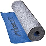QuietWalk Plus QW100PLUS Underlayment for Hardwood, Laminate and Vinyl Plank Flooring with Moisture/Vapor Barrier and Sound Absorption (Nail, Glue & Float Applications) 3' x 33.4' Blue