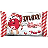 M&M'S Holiday White Peppermint Chocolate Christmas Candy 8-Ounce Bag
