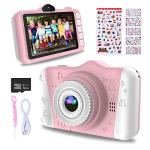 WOWGO Kids Digital Camera – 12MP Children's Camera with Large Screen for Boys and Girls, 1080P Rechargeable Electronic Camera with 32GB TF Card