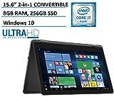 Dell Inspiron 15 7000 7568 2-in-1 Laptop, 15.6' 4K (3840x2160) TOUCHSCREEN, Intel 6th Gen i7-6500U, 256GB SSD, 8GB DDR3, Backlit Keyboard, Windows 10 (Renewed)