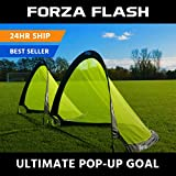 Forza Flash Pop Up Soccer Goal - Ultimate PRO Portable Soccer Goals with Carry Bag - Available in 2.5ft, 4ft & 6ft - [Net World Sports] (4ft)
