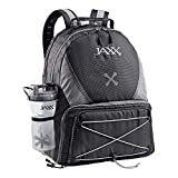 Jaxx FitPak Meal Prep Backpack with Portion Control Container Set in Black/Grey