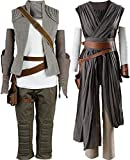 Cosplaysky Women Halloween Tunic Outfit for Rey Costume Ver.2 Large Grey