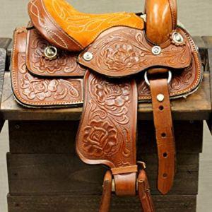 M-Royal 8″ Toddler Size Leather Western Miniature Pony Saddle