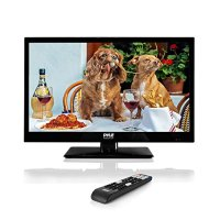 Pyle 18.5-Inch 1080p LED TV   Ultra HD TV   LED Hi Res Widescreen Monitor with HDMI Cable RCA Input   LED TV Monitor   Audio Streaming   Mac PC   Stereo Speakers   HD TV Wall Mount (PTVLED18)