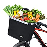COFIT Collapsible Bike Basket, Multi-Purpose Bicycle Handle Basket for Pet Carrier, Grocery Shopping, Briefcase Commuter, Outdoor Camping