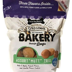 Three Dog Bakery Cookies, Assorted Flavors, Baked Dog Treats 19