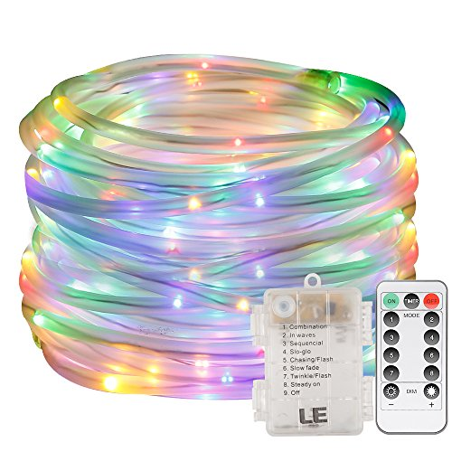 Le 33ft 120 led dimmable rope lights battery powered waterproof 8 le 33ft 120 led dimmable rope lights aloadofball Gallery