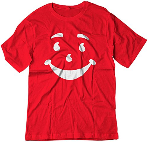 BSW Men's Kool-Aid Man Smiley Face Oh Yeah! Juice Shirt 2XL Red