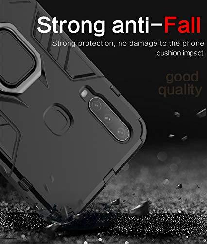 Soezit Military Grade Rugged Ring Holder Hybrid Back Cover for Vivo U20 (Red) 4